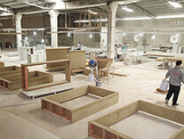 wooden workshop of store display manufacturers in china